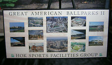 HOK SPORTS BASEBALL STADIUM GREAT AMERICAN BALLPARKS II  FRAMED PRINT ART