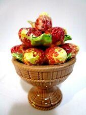 "Vintage Ceramic Strawberries Original Arnart Creation Japan Topiary 4.5"" Tall"
