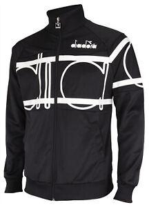 Diadora Men's 80S Bold Track Jacket, Black/White