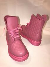 Dr. Martens Coralie SIZE 39 Womens 8 UK 6 PINK QUILTED MONOCHROME Leather & Sole
