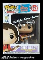 Funko POP! - The Brady Bunch - Greg Brady - Signed by C.D. Barnes - JSA Cert.