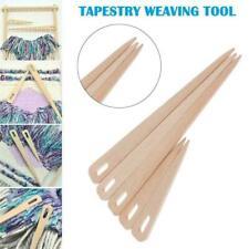 Wood Hand Loom Stick Wooden Shuttle Tapestry Weaving Knit Handcrafts Tool V1L7