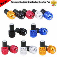 "Handlebar Grips Bar End Plugs Caps for 7/8"" Motorcycle Motorbike Honda Yamaha"