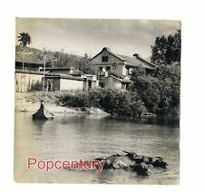 WW2 China Burma India Large Photo 1944 ATC CBI Ledo Road Burma or China Scene