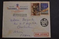 lettre RUSSIE pour france cachet russe a identifier transport maritime a vapeur
