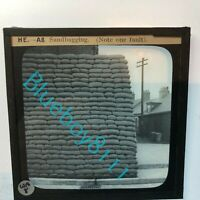 WW2 Home Front ARP Wardens Instruction Glass Slide Sandbagging instruction