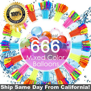 666 Pcs(18 Bunches)  Self-Sealing Instant Water Balloons,Bunch O Balloons style