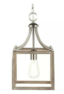 Home Decorators Collection Mini Pendant Boswell Quarter Brushed Nickel 7947HDC