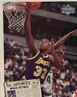 1992 Upper DeckLarry Bird Magic Johnson Retirement Card  #SP1 Boston LA Lakers
