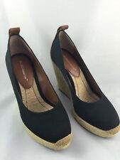 BCBGeneration Wedge Black Shoes Rope Weave 7.5M