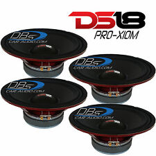 "4) DS18 PRO-X10M 10"" Midrange Car Speaker 2,400W Max 8-ohm (Set of 4)"