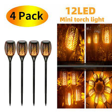 4 PCS Outdoor 12 LED Solar Torch Flickering Flame Light Garden Waterproof Lamps