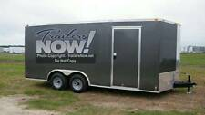 8.5x16 8.5 x 16 Enclosed Trailer Cargo V Nose Utility Motorcycle 18 Box Hauler.