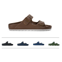 NEW CCILU Men Sandal Slipper Slip on Flip Flop Beach Brown Gray HORIZON CHECK