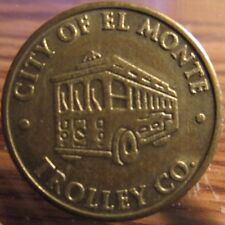 2000 City of El Monte, CA Trolley Co. Transit Token - California Calif.