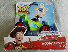 TOY STORY, SHAKE N GO, WOODY and RC, unopened with shelfwear to packaging