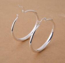 925 Solid Sterling Silver Hoop Earrings [MLBH-014]