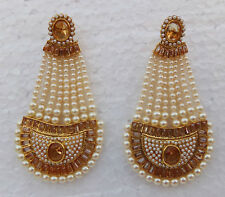 Ethnic Indian Wedding Jewelry Lct Jhumki Pearl Bollywood Fashion Earrings Set