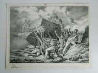 gravure d'ap.H Vernet Prise d'une redoute par des grenadiers français DUPUY 1831