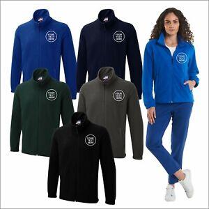 Personalised Custom Embroidered Uneek UX5 Full Zip Micro Fleece Jacket Work Wear