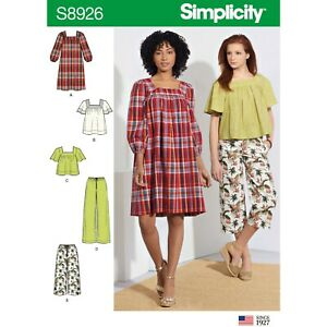 Simplicity Sewing Pattern 8926 Misses 16-24 Loose Pants Culottes Tops, Dresses