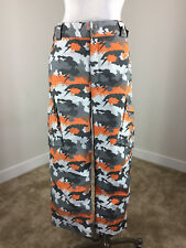Burton Ski snow pants Youth Boy Kids XL Orange Gray Camo waterproof