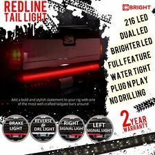Premium 60 Inch 2 Row LED Truck Tailgate Light Bar Strip Red White Reverse Stop