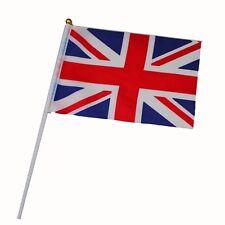 5PCS Hand Table Flag Festivals UK British GB United Kingdom HELD STICK FLAGS