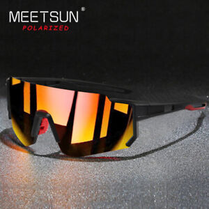 Polarized Cycling Sunglasses for Men Women Unbreakable Frame Sports Sunglasses