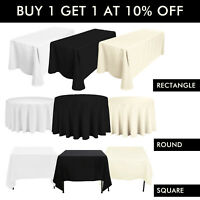 1pc WHITE BLACK IVORY POLYESTER TABLECLOTH TABLE CLOTH COVER CHRISTMAS PARTY