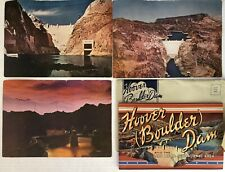 Vintage Postcards Old Paper Hoover Dam Booklet And Large Postcards Lot