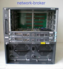Cisco Switch Bundle WS-C6506-E +2 x  VS-S720-10G-3C Redundante SE 10GB Uplink