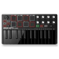 Akai MPK Mini MKII Laptop Keyboard Controller Special Edition, Black on Black