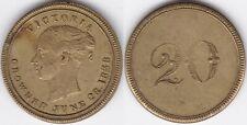 Krönungsjeton oder Spielmarke Queen Victoria 28. Juni 1838 Wert 20