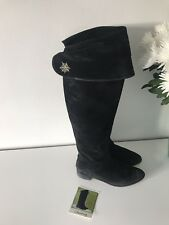 Charlotte Olympia 🕸🕷 Suede Black Boots Fit Size 6