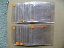 25 Used CD DVD Disc Clear Plastic Sleeves Wallet Cover Case with Flap – Free P&P