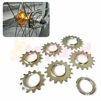 FIXIE TRACK SPROCKET FIXED SINGLE SPEED COG THREADED LOCK RING 13 14 15 16 17 18