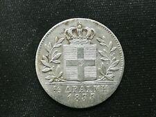 GREECE  1/2 DRACHMA SILVER COIN 1833