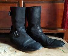 BELSTAFF TRIALMASTER  boots size 44 - UK 10 ( VERY RARE ) Black suede, preworn
