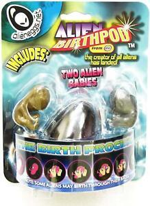 Alien Egg Birth Pod With 2 Alien Babies Kids Squishy Gooey Toy Party Bag Filler
