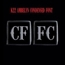 Stainless Steel CFFC 2 Piece MC Club Biker Ring Set K22 font Custom size