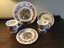 "Royal Doulton Brambly Hedge Autumn 5 Piece Set 8"" & 6"" Plates Cup & Saucer & Mug"