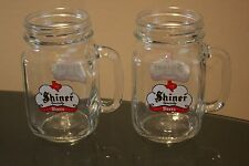 Shiner Specialty Beers Texas 16 oz Mason Jar Beer Glass Set of 2 Brand New