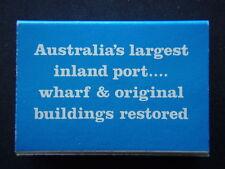 PORT OF ECHUCA P.S. PEVENSEY AUSTRALIA'S LARGEST INLAND PORT - MATCHBOX