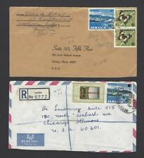 Jamaica collection of registered covers from different post offices (15)