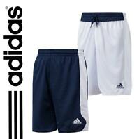 New adidas Boys Reversible Basketball Shorts Age 13-16  Blue White  sport gym