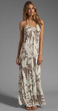 VELVET By Graham & Spencer Orville Corfu Halter Floral Rayon Maxi Dress S $168