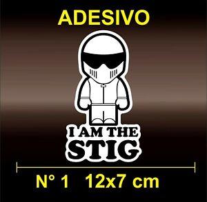 Adesivi Stickers I AM THE STIG PILOT  CAR AUTO TAXY YOU HUB porn top