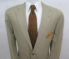 Coppley 100% Wool Solid Beige Blazer Suit Jacket Sport Coat 44 R Made in Canada