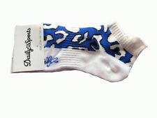 DAILY SPORTS 'BELLA' SOCKS - WHITE/BLUE - SIZE 36-38
